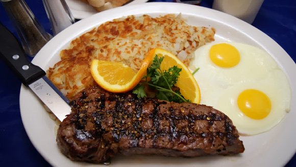 Uncle John's Eggs Menu - Steak and Eggs
