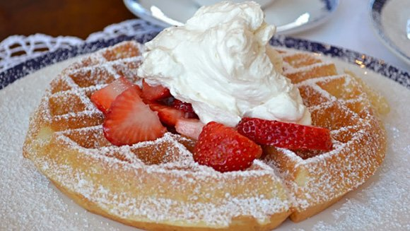 Uncle John's Strawberry Belgian Waffles
